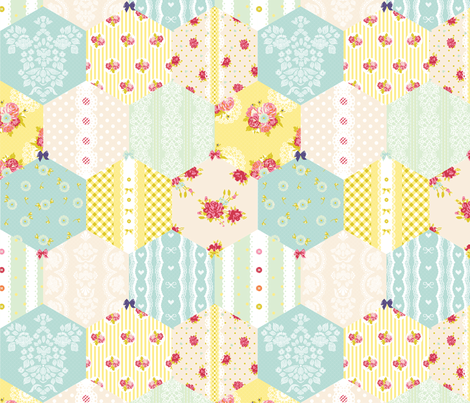 shabby chic cheat quilt fabric by stupid_hobby on Spoonflower - custom fabric