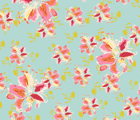 watercolor_flower fabric by sarahcrystal on Spoonflower - custom fabric