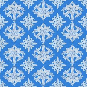 Blue and White Damask © Gingezel™