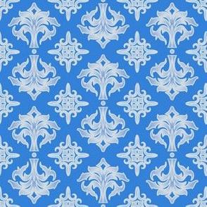 Blue and White Damask © Gingezel™