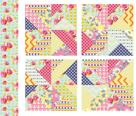 spring pinwheels fabric by p_kok on Spoonflower - custom fabric