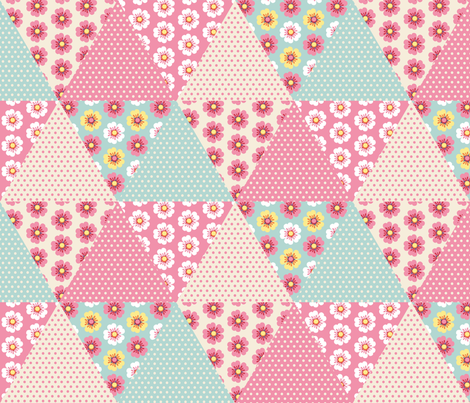 Cute spring flowers cheater quilt fabric by petitspixels on Spoonflower - custom fabric