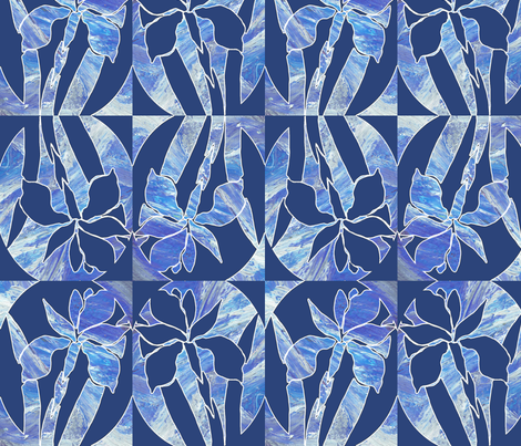 iris in a bowl fabric by jennifurryrabbit on Spoonflower - custom fabric