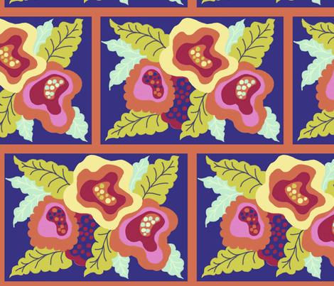 WILD INDIGO FLORA fabric by me_amelia on Spoonflower - custom fabric