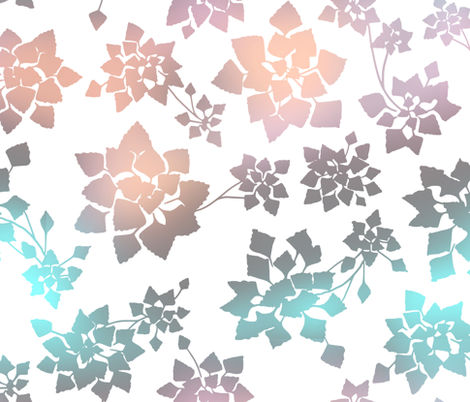 water caltrop - ombre fabric by ravynka on Spoonflower - custom fabric