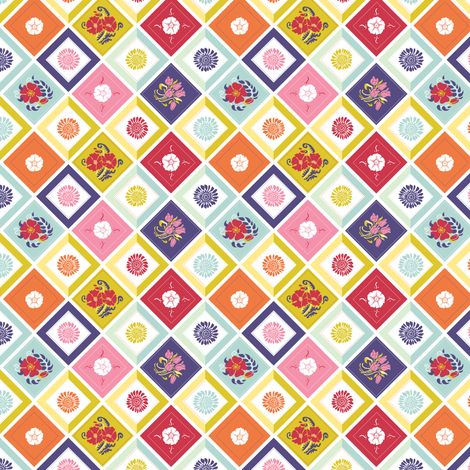 Spring Garden Quilt fabric by dianne_annelli on Spoonflower - custom fabric