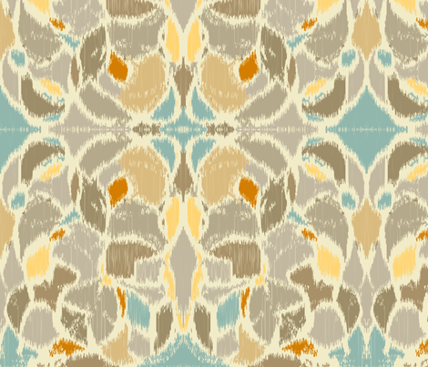 Ikat Taupe Light fabric by femiford on Spoonflower - custom fabric