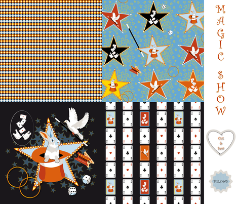 Magic Show Pillow Set fabric by vannina on Spoonflower - custom fabric