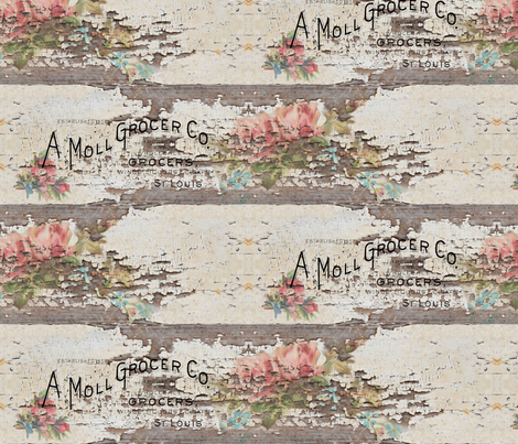 Woody Roses fabric by peagreengirl on Spoonflower - custom fabric
