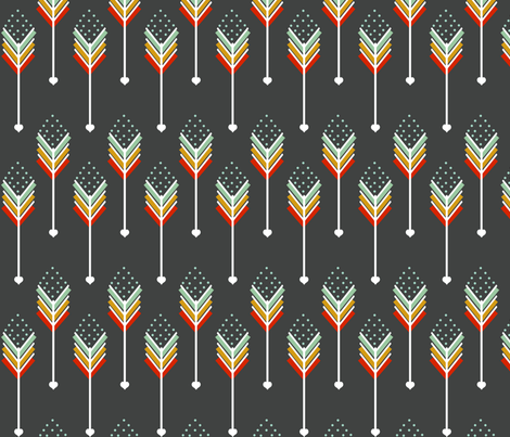 Red Arrows Down fabric by natitys on Spoonflower - custom fabric