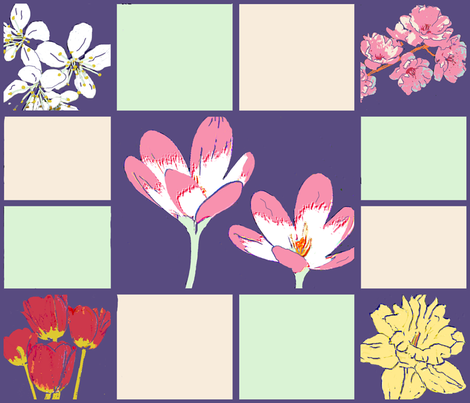 Spring_Flowers_Cheater fabric by koalalady on Spoonflower - custom fabric