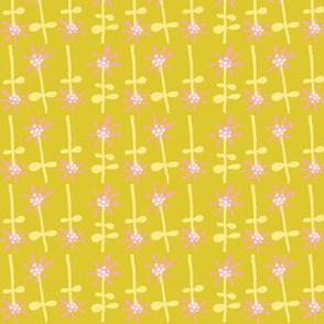 ditsy daisy dot  (puce)