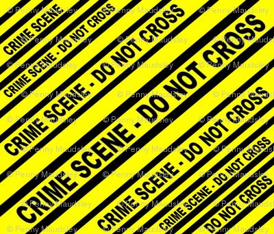 CRIME SCENE YELLOW TAPED