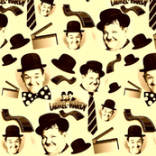 LAUREL & HARDY SEPIATONE