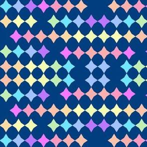 Rainbow Stars-navy