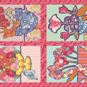 Spring Friends Tea Towels or Baby Quilt