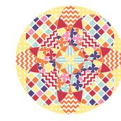 Geometric Flower Cheater Quilt Block