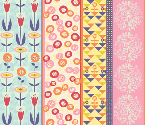 Blossoms fabric by chris_jorge on Spoonflower - custom fabric