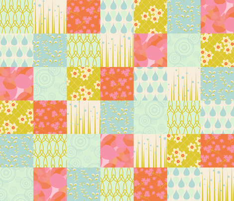 April Showers fabric by katherinelenius on Spoonflower - custom fabric