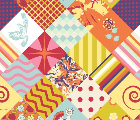 patchwork fabric by gleolite on Spoonflower - custom fabric