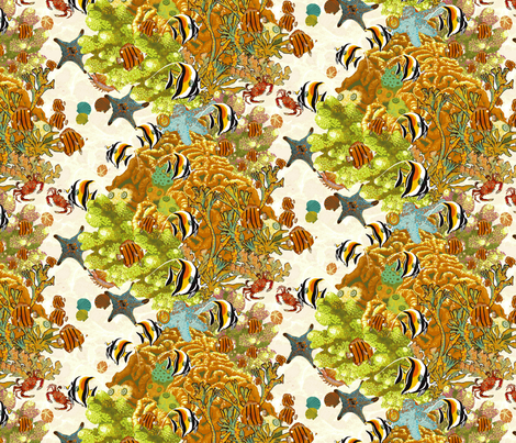 A Little Bit of Reef. fabric by art_on_fabric on Spoonflower - custom fabric