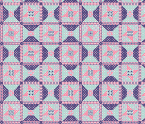 Winding Cotton - Spring Floral Pink Quilt fabric by inscribed_here on Spoonflower - custom fabric