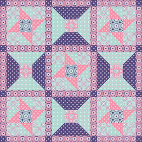 Winding Cotton - Spring Floral Pink Quilt