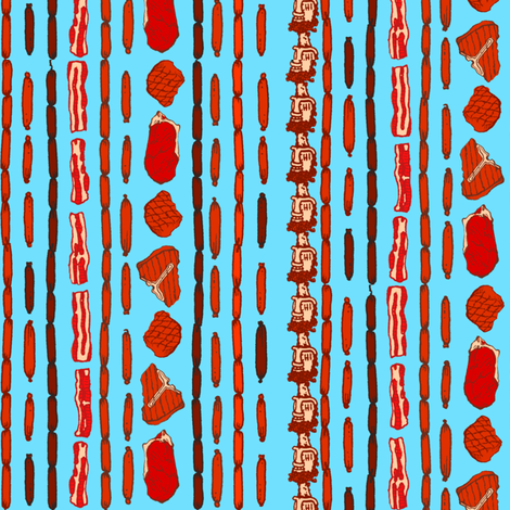 Meaty fabric by jadegordon on Spoonflower - custom fabric