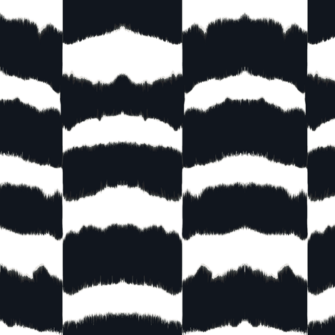 icebox cookie ikat-blk & white fabric by fable_design on Spoonflower - custom fabric