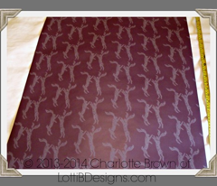 Boxing Hares - Rich Aubergine
