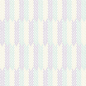 lilac mint herringbone