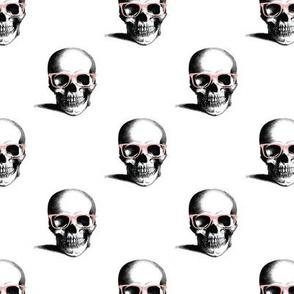 Hipster Skull Wayfarers, Pink