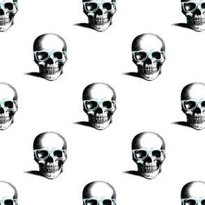 Hipster Skull Wayfarers, Blue