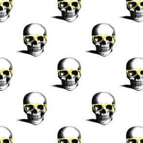 Hipster Skull Wayfarers, Yellow