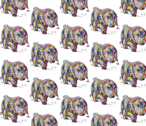 Large Rainbow Dapple Dachshund Print fabric by theartwerks on Spoonflower - custom fabric