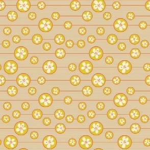 Floral yellow Bubbles/Quilt 1