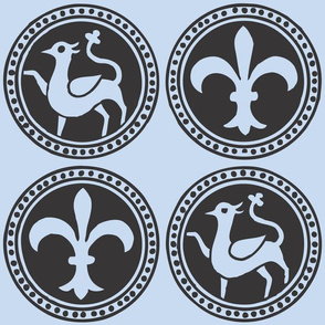 Fleur-de-Lis Heraldry Blue