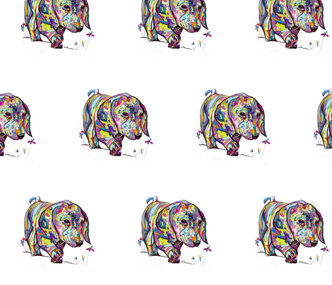 Medium Dappled Dachshund Print fabric by theartwerks on Spoonflower - custom fabric