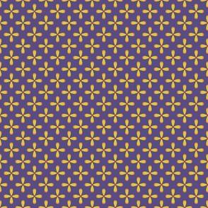 Floral Purple checkerboard /Quilt1