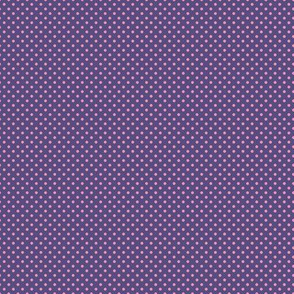 Floral Purple Tiny Polkadot /Quilt1
