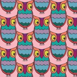 eyesey owlsie in gemtones