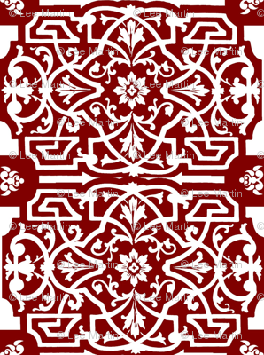 Red and white Chinese Design