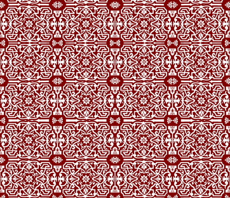 Red_A fabric by jabiroo on Spoonflower - custom fabric