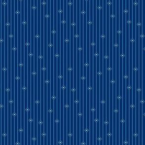 Dark Blue Diamondstripe