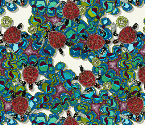 turtle reef fabric by scrummy on Spoonflower - custom fabric