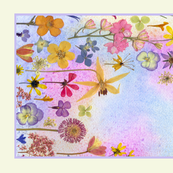Rainbow Garden Tea Towel