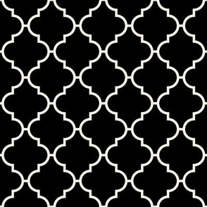 Moroccan Petite Tile on Black