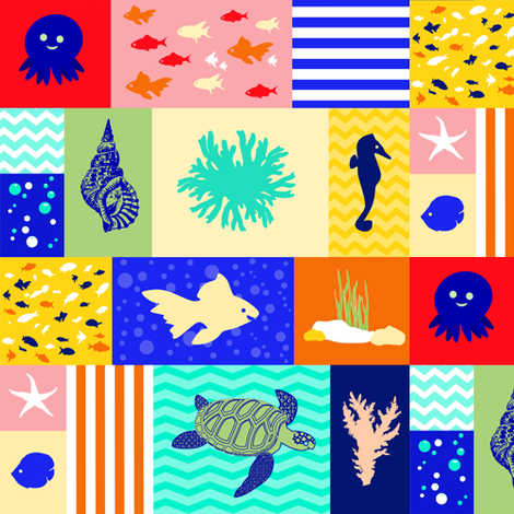 Under the Sea fabric by inspirationz on Spoonflower - custom fabric