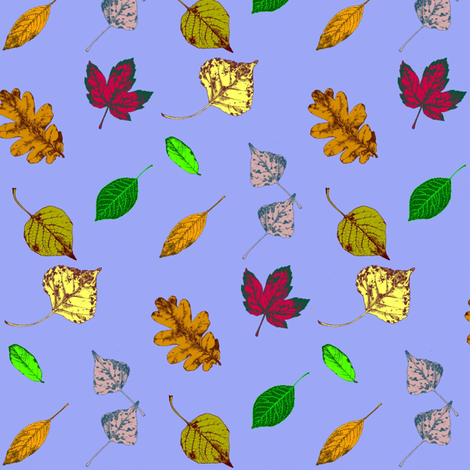 Floating Leaves 3 fabric by robin_rice on Spoonflower - custom fabric