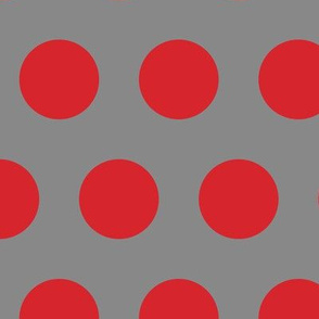 Polka Dot - Red on Grey XL